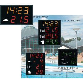 LED Zeit Datum Temperatur Aussen Anzeige z.B. Hallenbad - Werbung BÜRK DT