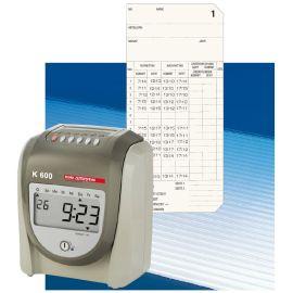 BÜRK MOBATIME Stempeluhr K 600 Stechuhr mit Stempelkarte + Signalsteuerung