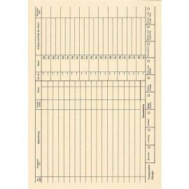 500 Stück Stempelkarten ZS 04 für Horada Werkstatt Belegstempler Datumstempler