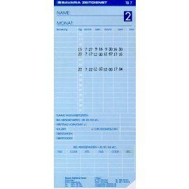 500 Stück Stempelkarten für Modell BZ13TB7 Timeboy Zi Stechuhr Stempelkarte