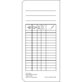 200 Stück Stempelkarten für Modell BZ12 QR375 QR 875 K875 K895